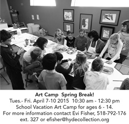 Hyde Collection Art Camp for Spring Break