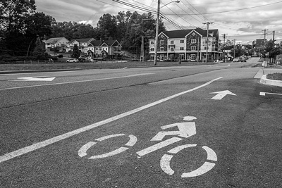 The bicycle lane along Excelsior Avenue in Saratoga Springs might soon have more traffic as the Capital District Transportation Authority sets up a series of area bike-sharing stations. Joan K. Lentini photo